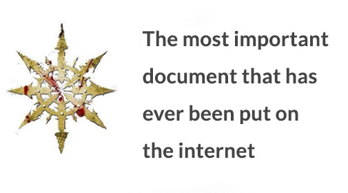 The most important document that has ever been put on the internet