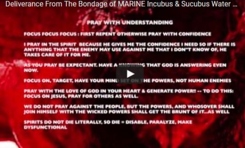 Deliverance From The Bondage of MARINE Incubus & Sucubus
