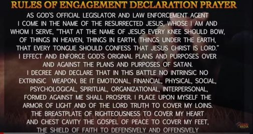 Textvideo: Rules of Engagement Declaration Prayer - Dr