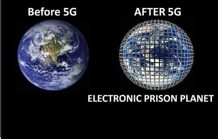 Earth before and after 5G